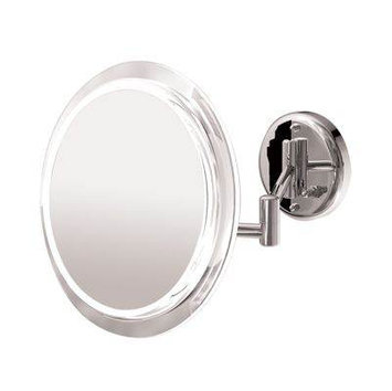 Zadro Products Surround Light Satin Nickel 5X Wall Mirror