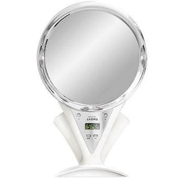 Zadro Z'Fogless LED Fogless Power Zoom Shower Mirror