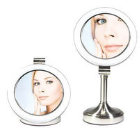 Zadro Products SLV410 Dimmable Sunlight Straight Neck Vanity Mirror