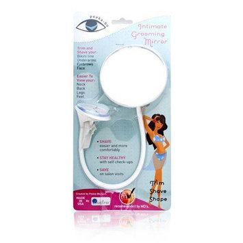 Zadro Products Peeka-Bu Gooseneck Intimate Grooming Mirror in White