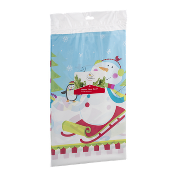 Smart Living Holiday Plastic Table Cover
