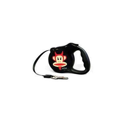 Bars & A Band Paul Frank-Devil Julius Retractable Dog Leash Size: Small