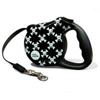 Bars & A Band Paul Frank-Signature Skurvy Retractable Dog Leash Size: Small