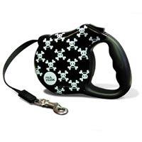 Bars & A Band Paul Frank-Signature Skurvy Retractable Dog Leash Size: Small