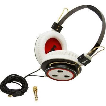 Sakar Baseline Headphones, Red