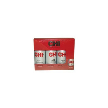 Home Stylist Kit By Chi For Unisex - 4 Pc Kit 12oz Shampoo, 12oz Treatment, 12oz Keratin Mist, 2oz Silk Infusion