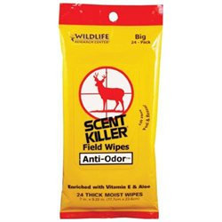 Wildlife Research Center 24Pk Scent Killer Field Wipes