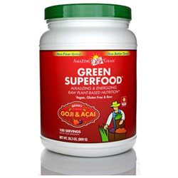 Amazing Grass Green SuperFood Drink Powder, Berry, 28 oz