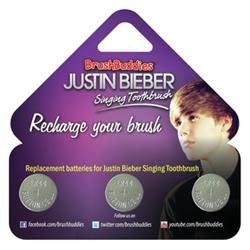 BrushBuddies Justin Bieber Singing Toothbrush Replacement Batteries, 3 ea