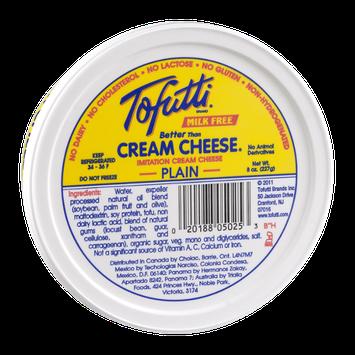 Tofutti Cream Cheese Milk Free Plain