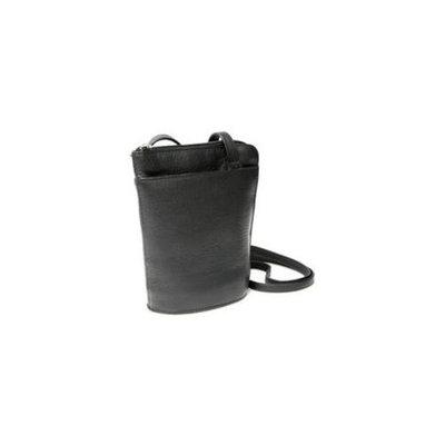 Royce Leather VLLZIPCB-BLK VAQUETTA PETITE L-ZIP CROSSBODY BAG, Black
