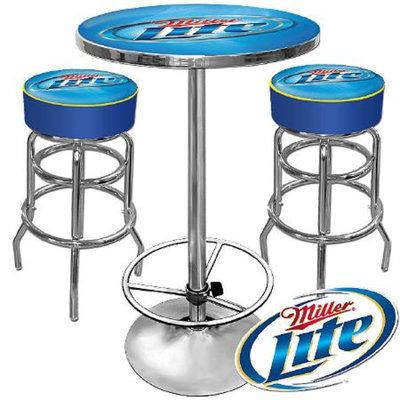 Trademark Global Ultimate Miller Lite Gameroom Combo - 2 Bar Stools and Table