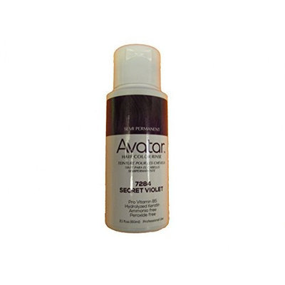 Avatar Semi Permanent Hair Color Rinse #7284 Secret Violet, Change your hair style, no mess, hair chemical, use warm, shake well, hair streaks, hair dye [Secret Violet]