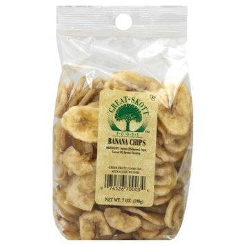Great Skott Banana Chips, 7-Ounce (Pack of 6)