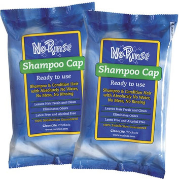 Cleanlife Products No Rinse Shampoo Conditioner Cap (Set Of 2)