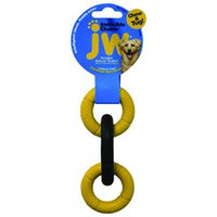 JW Pet Company - Invincible Chains Mini Triple Dog Toy - CLEARANCE PRICED.