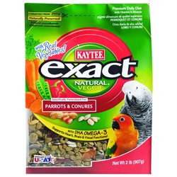 Kaytee Products Inc 100502390 Multi Colored Exact Veggie Natural Parrot/Conure 2 Pound