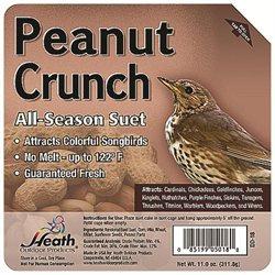 Heath Outdoor Products Peanut Crunch Suet Cake - Case of 12