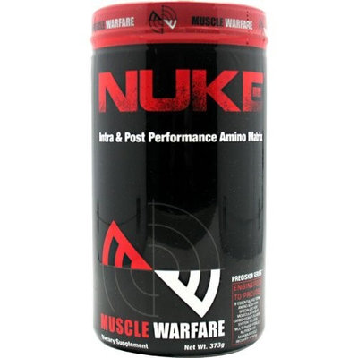Muscle Warfare Nuke, Fruit Punch Blast , 379 g Post Workout-Intra Workout and Pre-Workout