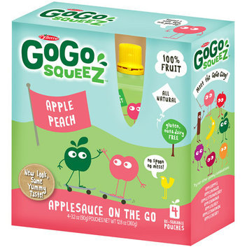 Gogo Squeez Apple Peach On The Go Applesauce