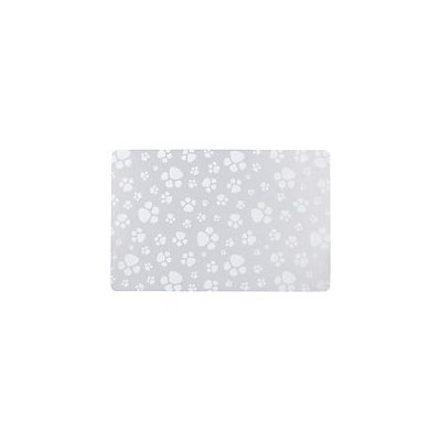 Genmert PVC Frosted Paw Print Pet Placemat, 20 L X 13 W