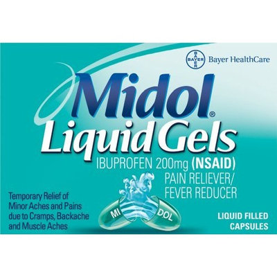 Midol Liquid Gels, 20-Count Liquid Filled Capsules
