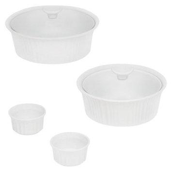 CorningWare 6 Piece Bakeware Set - White