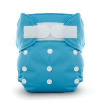 Thirsties Duo All in One Cloth Diaper, Ocean Blue, Size Two (18-40 lbs)
