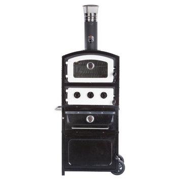 Alfresco Home Llc Fornetto Alto Wood Fired Pizza Oven & Smoker