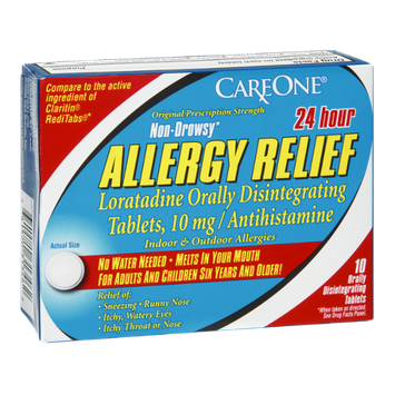 CareOne Allergy Relief 24 Hour Non-Drowsy Orally Disintegrating Tablets Indoor & Outdoor Allergies - 10 CT