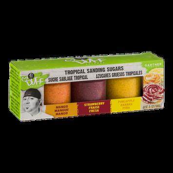 Duff Goldman Tropical Sanding Sugars Mango, Strawberry, Pineapple - 3 CT