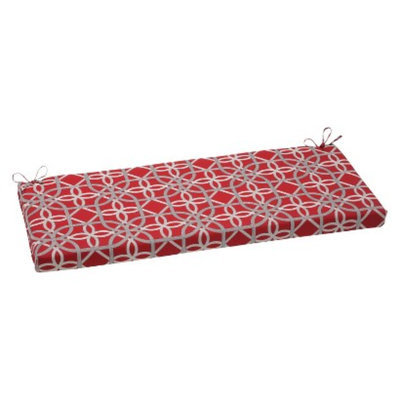 Pillow Perfect Outdoor Bench Cushion - Red/Brown Keene