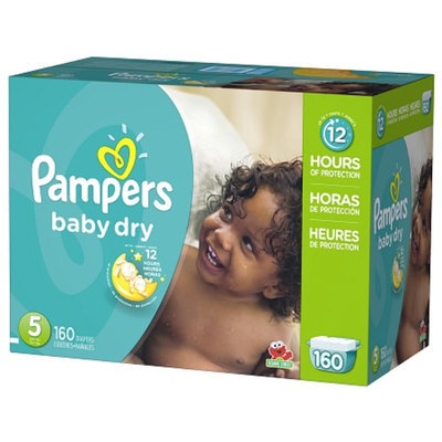 Pampers Baby Dry Diapers Economy Plus Pack Size 5 (160 Count)