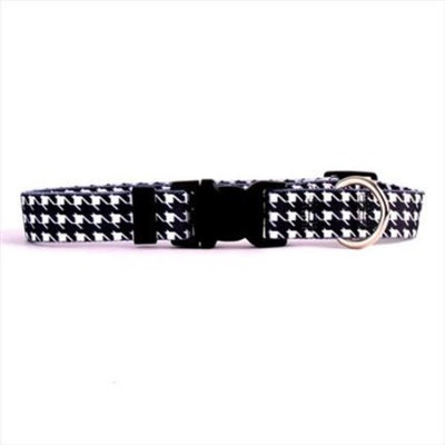 Yellow Dog Design HTBW103L Houndstooth White and Black Standard Collar - Large