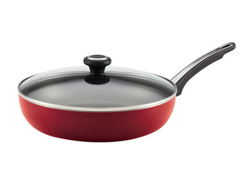 Meyer Corporation Us-farberware Division Farberware Red Nonstick 12-inch Covered Deep Skillet