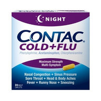 Contac Cold+Flu Night, 24 Caplets
