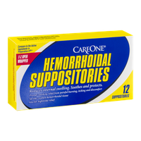CareOne Hemorrhoidal Suppositories - 12 CT
