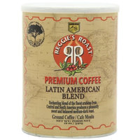 Reggies Roast Reggie's Roast Latin American Blend Ground Coffee, 12-Ounce Cans (Pack of 4)