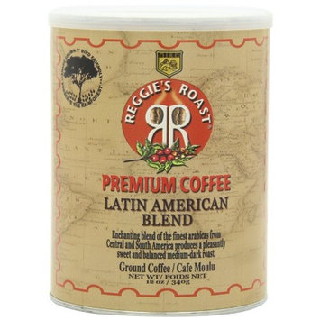 Reggies Roast Reggie's Roast Latin American Blend Ground Coffee, 12-Ounce Cans (Pack of 4)