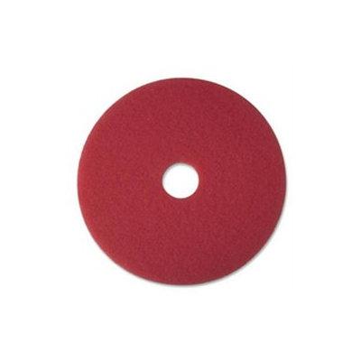 3M Buffer Floor Pad 5100, 20, Red, 5/Carton