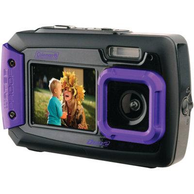 Coleman Duo 2V9WP Dual Screen Shock & Waterproof Digital Camera (Purple)