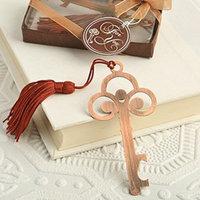 Fashioncraft Vintage Antique Copper Color Skeleton Key Bookmark Favors (36)