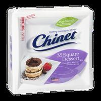 Chinet Plates Square Dessert White - 6 3/8 Inch