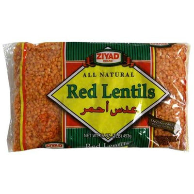 Ziyad Red Lentils, 16 oz (Pack of 6)