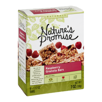 Nature's Promise Naturals Granola Bars Raspberry - 6 CT