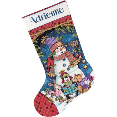 Cute Carolers Stocking Counted Cross-Stitch Kit, 16
