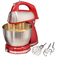 Hamilton Beach Classic Hand/Stand Mixer, Red