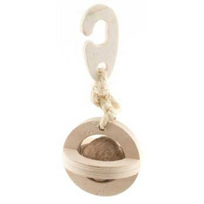 Ware All Natural Wood-N-Nut Small Pet Ball Toy