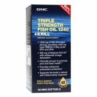 Gnc GNC Triple Strength Fish Oil 1240 +Krill - 40% Smaller Pill