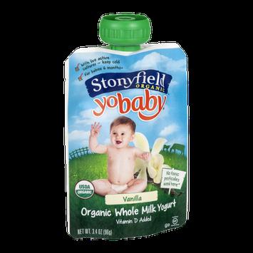 Stonyfield Organic Yobaby Organic Whole Milk Yogurt Vanilla